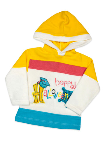 Hooded Kids Fleece Suit 1Yr to 4Yr Happy Yellow
