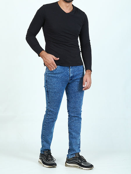 Stretchable Jeans For Men Blue