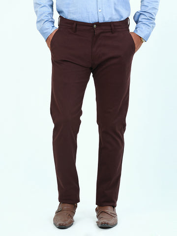 Cotton Chino Pant For Men Maroon