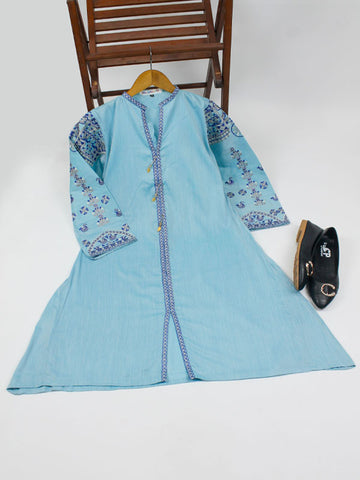 Chambray Kurti for Women Spring Embroidery