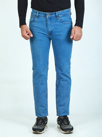 Stretchable Jeans For Men Ice Blue