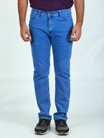 Stretchable Jeans For Men Light Blue