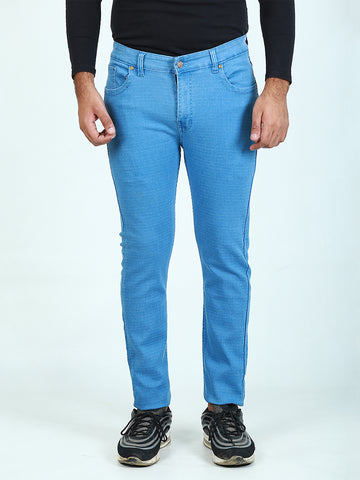 Power Stretch Jeans for Men Light Blue