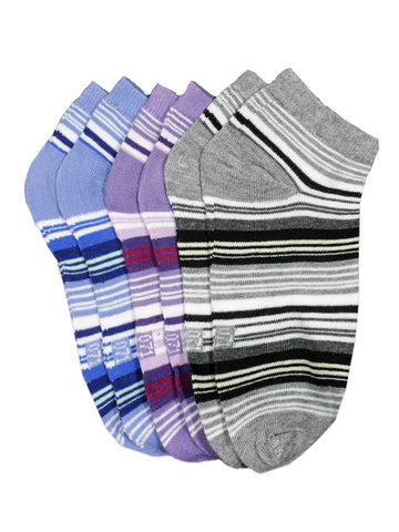 Ankle Socks for Women Multi-color Pack of 3