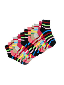 Cotton Socks For Women Multi-color Pack of 6