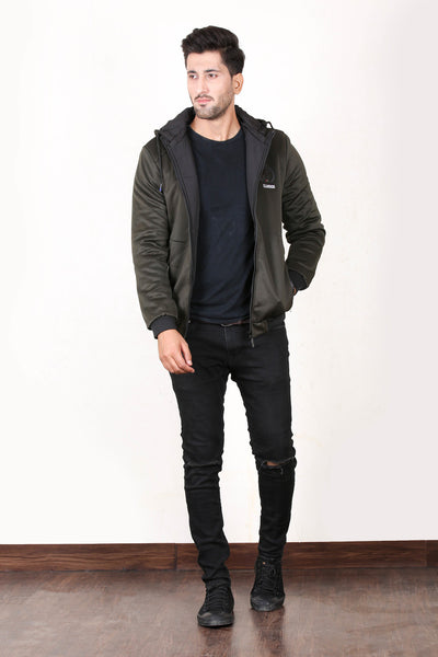 Double Sided Winter Jacket For Men Salte Green