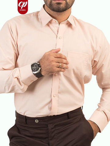 Cut Price Formal Dress Shirt for Men Peach