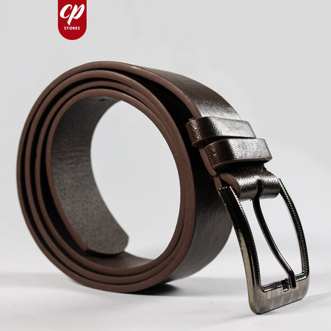Cut Price Faux Leather Style Belt for Men Saddle Brown