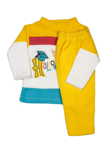 Kids Fleece Suit 1Yr to 4Yr Happy Yellow