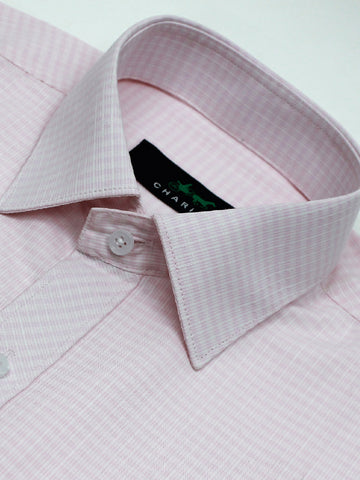 Classic Office Formal Shirt For Men Cross Cage Pink