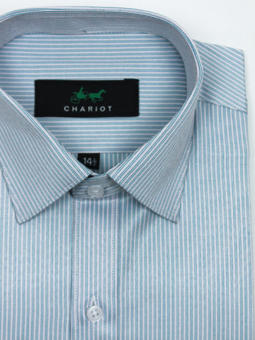 Classic Office Formal Shirt For Men Double Line Slate Blue