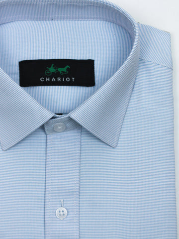 Classic Office Formal Shirt For Men Dots Blue
