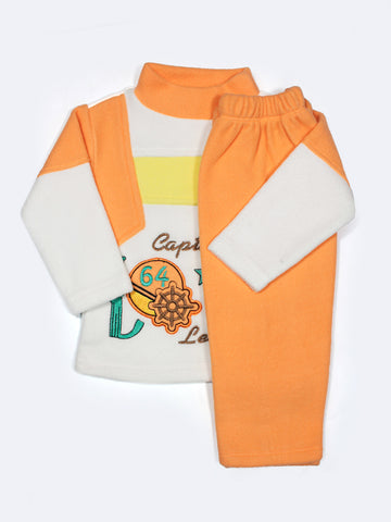 Kids Fleece Suit 1Yr to 4Yr Captains Orange