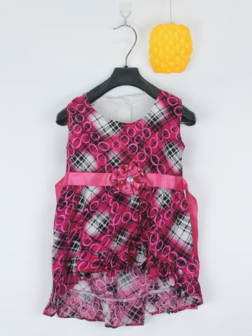 Sleeveless Frock for Girls 10 Mth - 3.5 Yrs Cross Cage