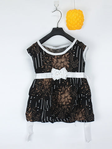 Sleeveless Frock for Girls 10 Mth - 3.5 Yrs Printed Flowers