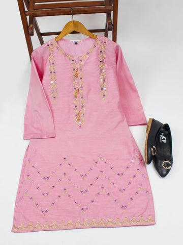 Chambray Kurti for Women Spring Embroidery O