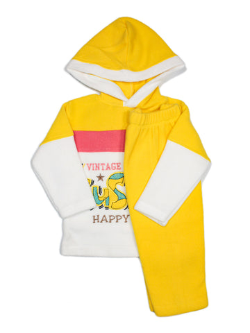 Hooded Kids Fleece Suit 1Yr to 4Yr SuS Je Yellow