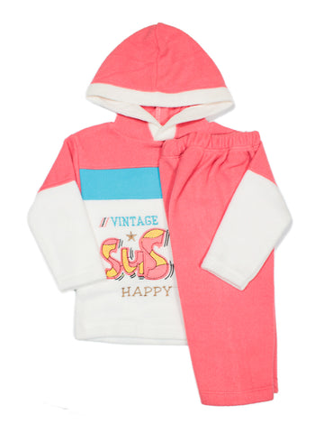 Hooded Kids Fleece Suit 1Yr to 4Yr SuS Je Red