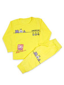 KS Kids Suit 1 Yr - 4 Yrs Rabbit Bright Yellow