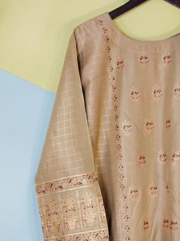 Kurti for Women Printed E1 Light Brown