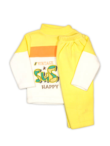 Kids Fleece Suit 1Yr to 4Yr SuS Je Yellow