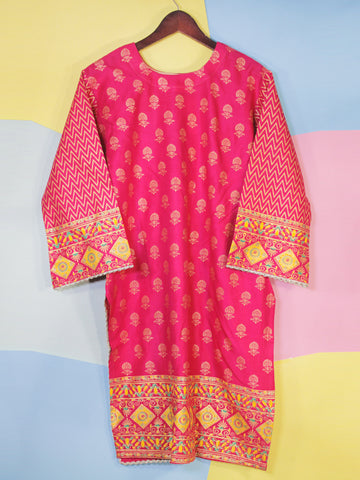Kurti for Women Printed F2 Pink