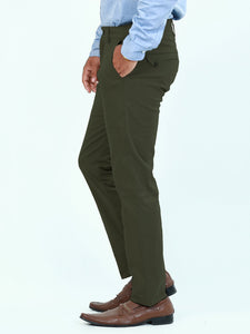 Cotton Chino Pant For Men Moss Green