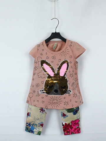 AKC Baby Suit 1 Yr - 4 Yr Sequins Rabbit Dull Peach