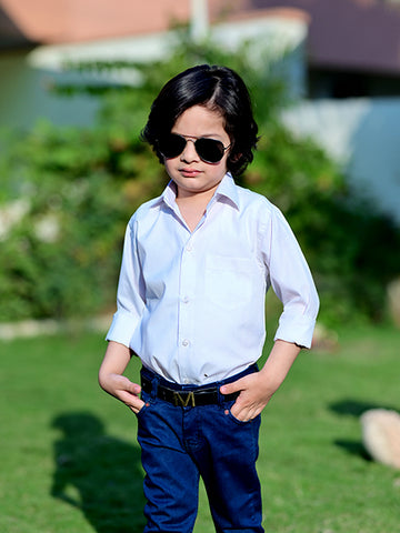 2 Yrs to 15 Yrs Formal Shirt for Boys White