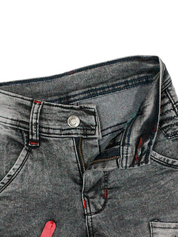 5 Yrs - 15 Yrs Power Stretch Jeans for Boys Dark Grey