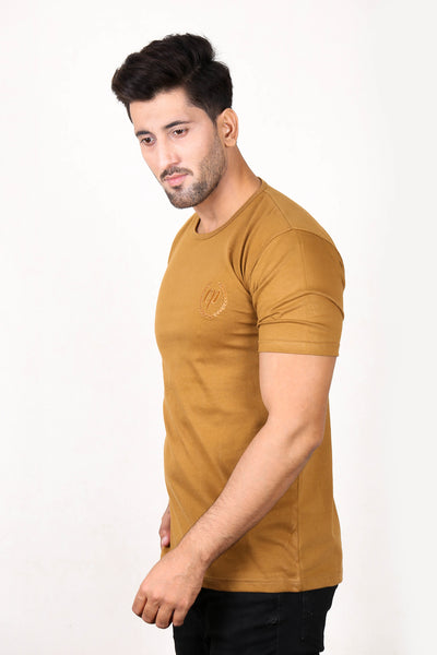 CP T-Shirt For Men Gold Brown