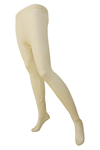 Tights For Women Plain Off White