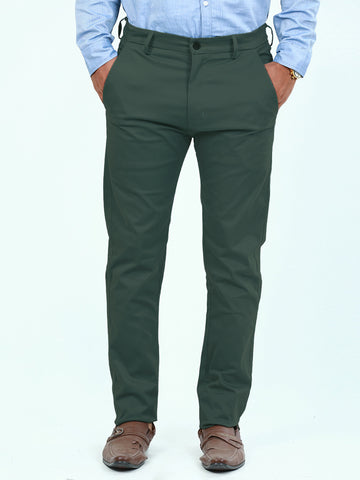 Cotton Chino Pant For Men Pickle Green
