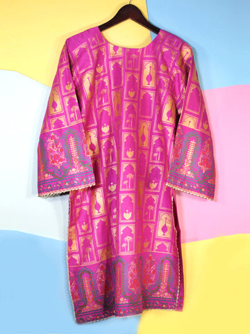 Kurti for Women Printed Traditional Pink