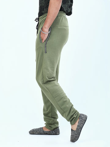 Casual Terry Trouser for Men Slate Green