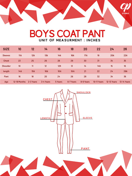 BS 1Yr to 14Yr 4 Pcs Coat Pant Suit For Boys Plain Grey