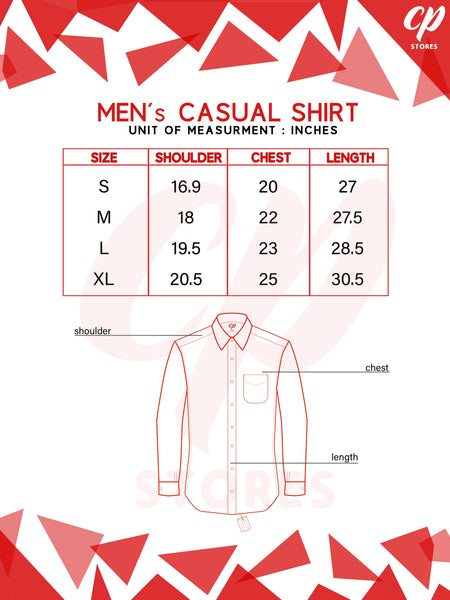 Casual Shirt For Men Cotton Red & White Check
