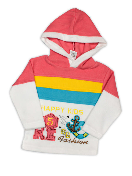 Hooded Kids Fleece Suit 1Yr to 4Yr Happy Kids Red