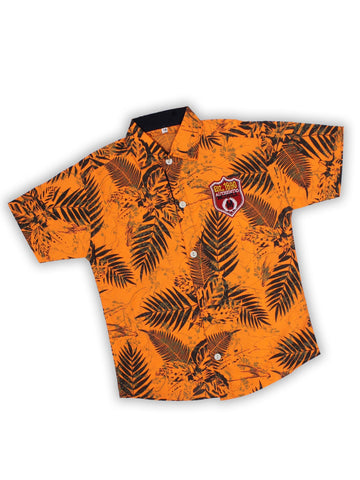 3 Yrs to 13 Yrs 100% Cotton Casual Shirt for Boys Printed Orange