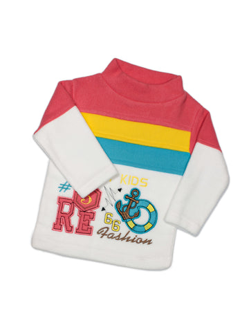 Kids Fleece Suit 1Yr to 4Yr Happy Kids Red