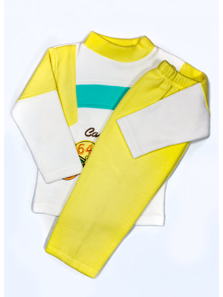 Kids Fleece Suit 1Yr to 4Yr Captains Yellow