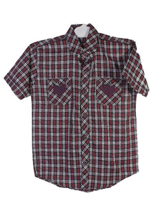 Cut Price Casual Shirt For Boys 8-16 Yrs Triangle Double Pocket Black White Lines