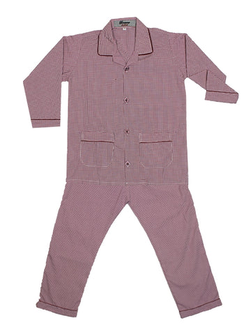 Cut Price Kids Cotton Night Suits SH 4YR-16YR Maroon