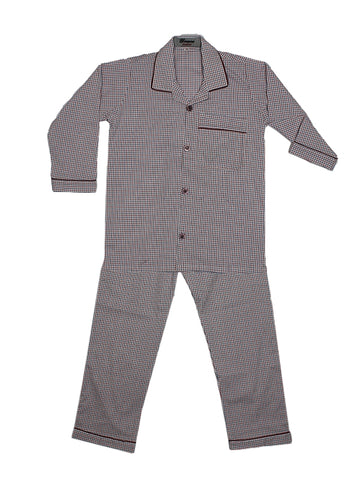 Cut Price Kids Cotton Night Suits SH 4YR-16YR Red Blue