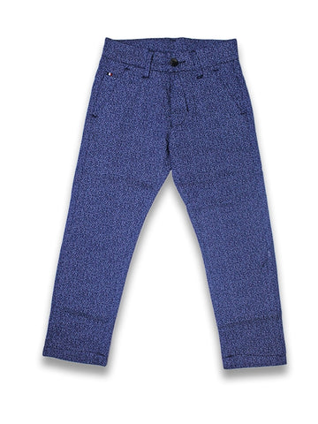 5 Yrs - 15 Yrs Printed Cotton Chino Pant For Boys Royal Blue