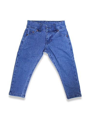 1.5 Yrs - 12 Yrs Power Stretch Jeans For Boys Wash Blue