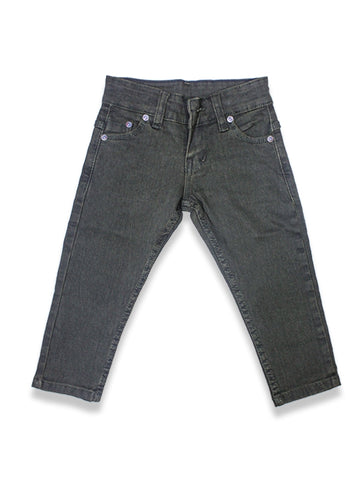1.5 Yrs - 12 Yrs Power Stretch Jeans For Boys Mud Green