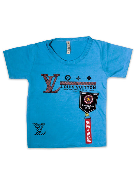 AK1 Boys T-Shirt 2 Yrs - 10 Yrs Printed Louis Sky Blue