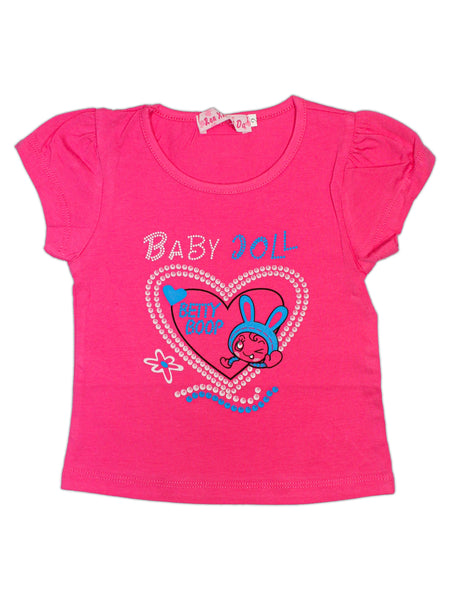 RXL T-Shirt For Baby Plain Pink Baby Doll