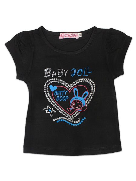 RXL T-Shirt For Baby Plain Black Baby Doll